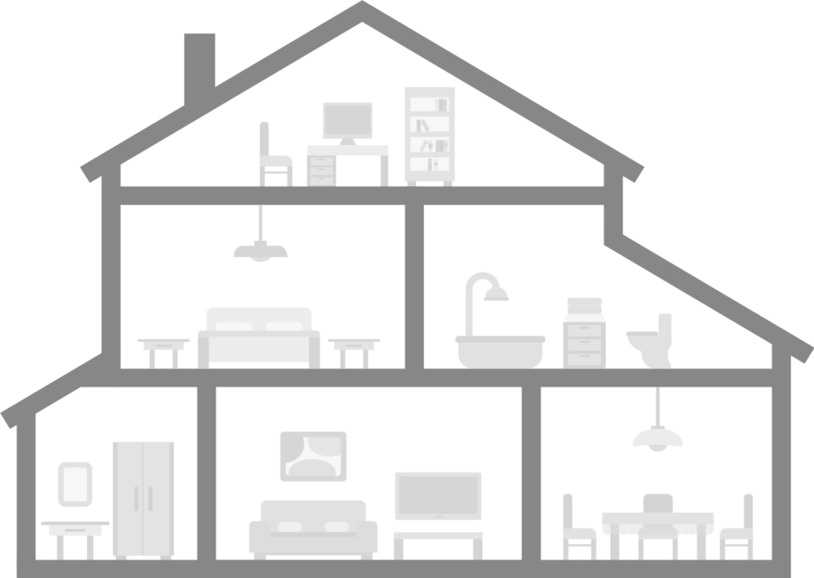 Illustration of a Thermal House using Thermal Comfort to maintain the correct home temperature