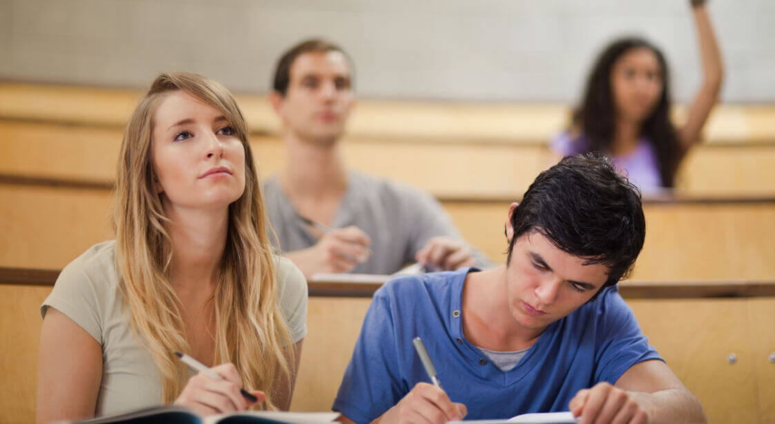Indoor Air Slider Background - Students in a lecture hall