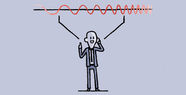 Cartoon depicting frequency - using acoustic comfort to avoid noise nuisance