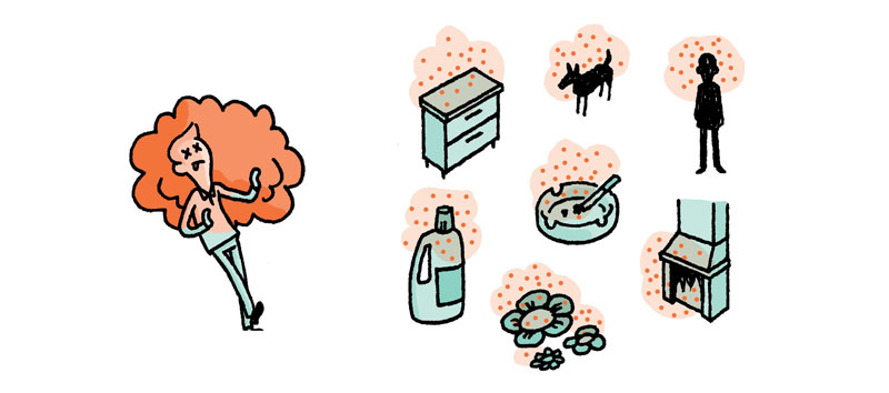 Common areas to find bad odors